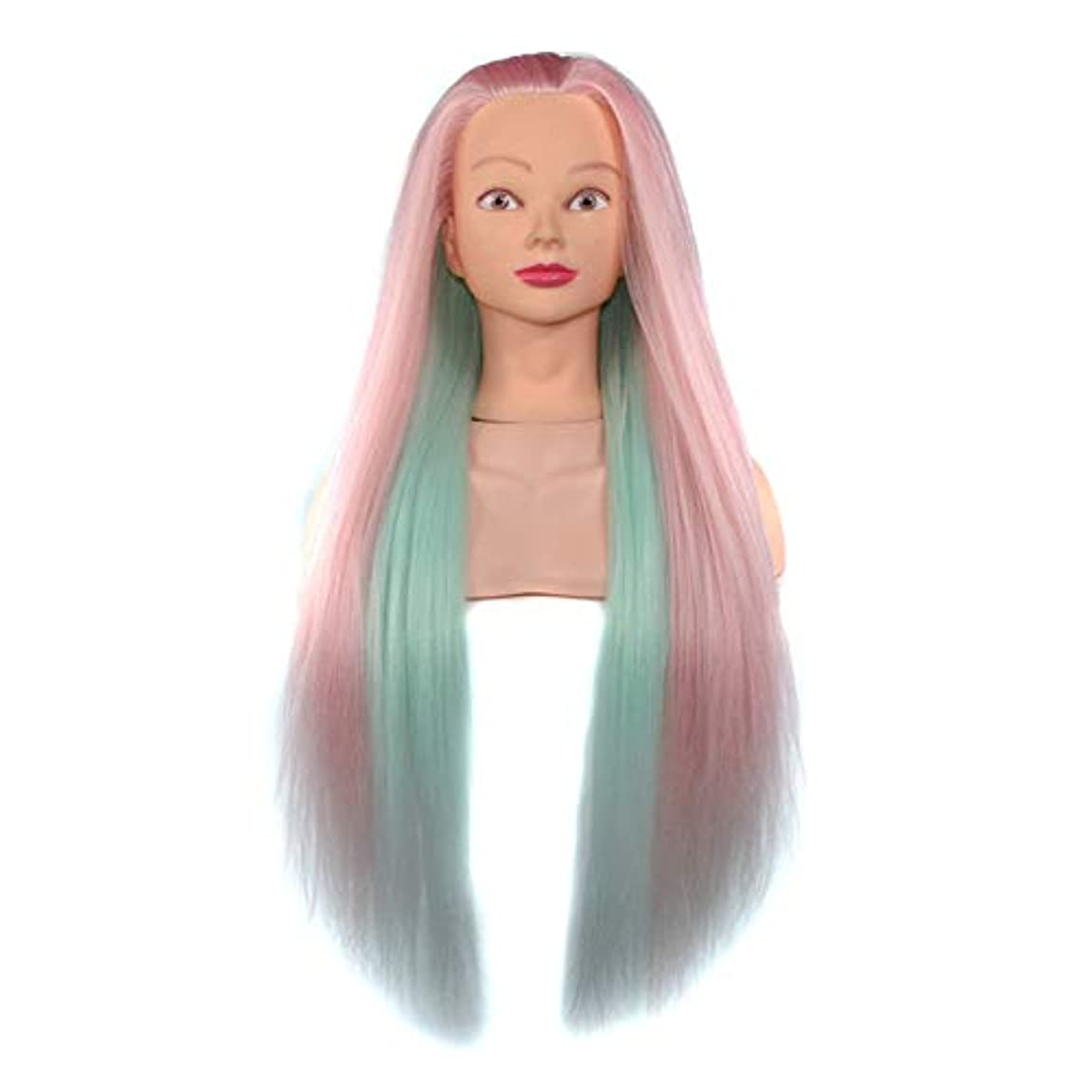 ヘアスタイリング練習ディスクヘア学習ヘッドモデル美容院高温ワイヤートレーニングヘッドマネキン人形ヘッド