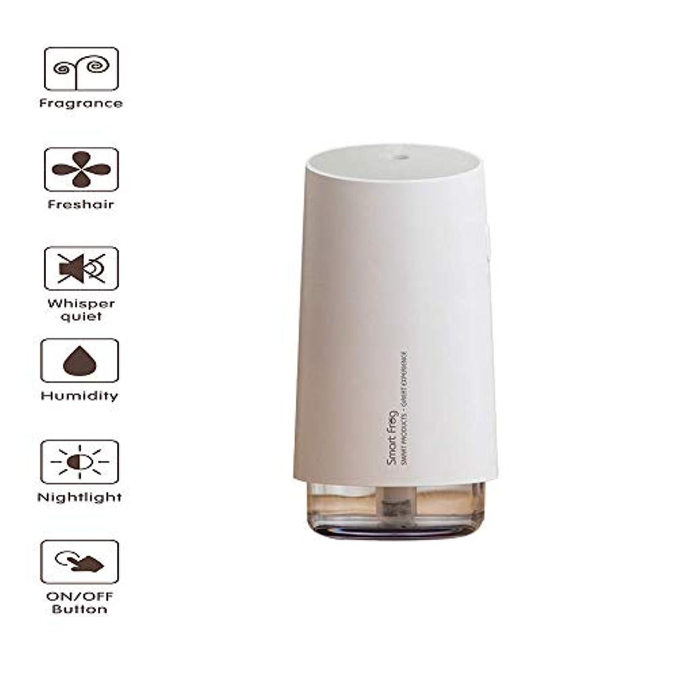 アクセントシロクマ自動的にアロマディフューザー、エッセンシャルオイルディフューザー、アロマディフューザー、超音波加湿器、クールスプレー付、ウォーターレス自動クローズ、静かなささやき、ナイトライト
