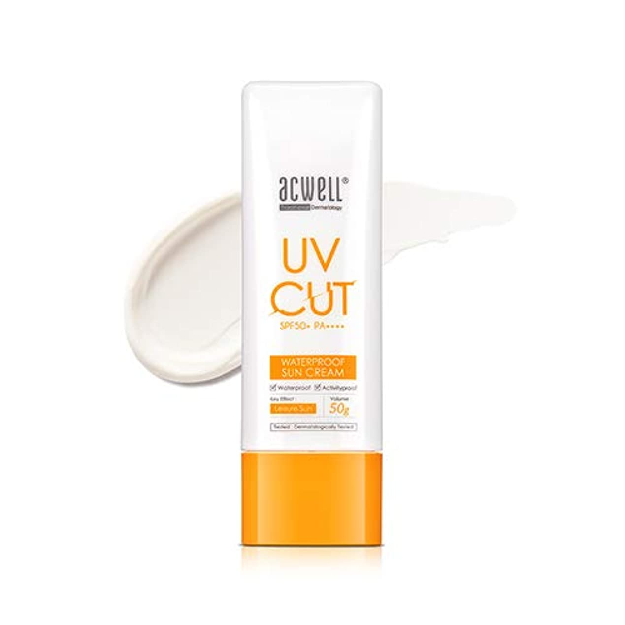 控える感度パブアクウェル ACWELL UV Cut Waterproof Sun Cream ウォータープルーフ サンクリーム 50g, SPF50+ PA++++ [Made in Korea]