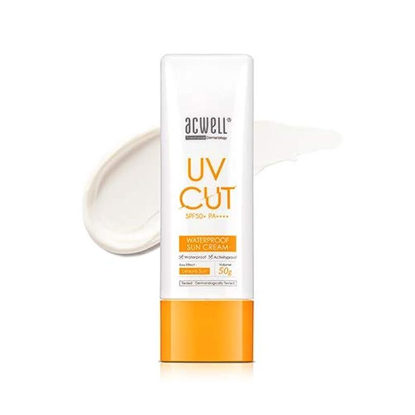 歩く移行する判定アクウェル ACWELL UV Cut Waterproof Sun Cream ウォータープルーフ サンクリーム 50g, SPF50+ PA++++ [Made in Korea]