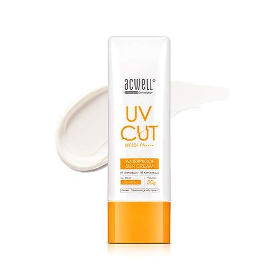 航空耳反抗アクウェル ACWELL UV Cut Waterproof Sun Cream ウォータープルーフ サンクリーム 50g, SPF50+ PA++++ [Made in Korea]