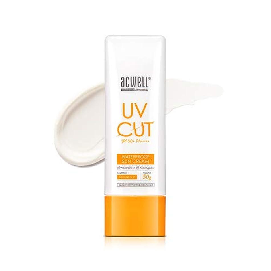 ミリメートル帰する味わうアクウェル ACWELL UV Cut Waterproof Sun Cream ウォータープルーフ サンクリーム 50g, SPF50+ PA++++ [Made in Korea]
