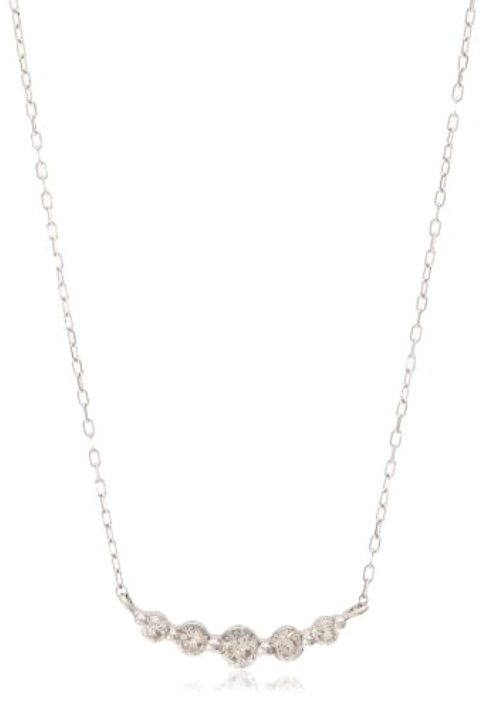 [ディーコレクション] D-COLLECTION K18ホワイトゴールドダイヤモンドネックレス 0.3ct【鑑別カード付】 FPN181201W