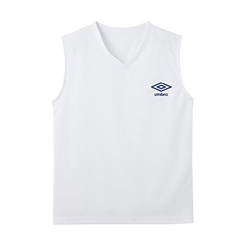(アンブロ)UMBRO Tシャツ DRY メッシュ Vネックスリーブレス ボーイズ UBS48 03 ホワイト 140