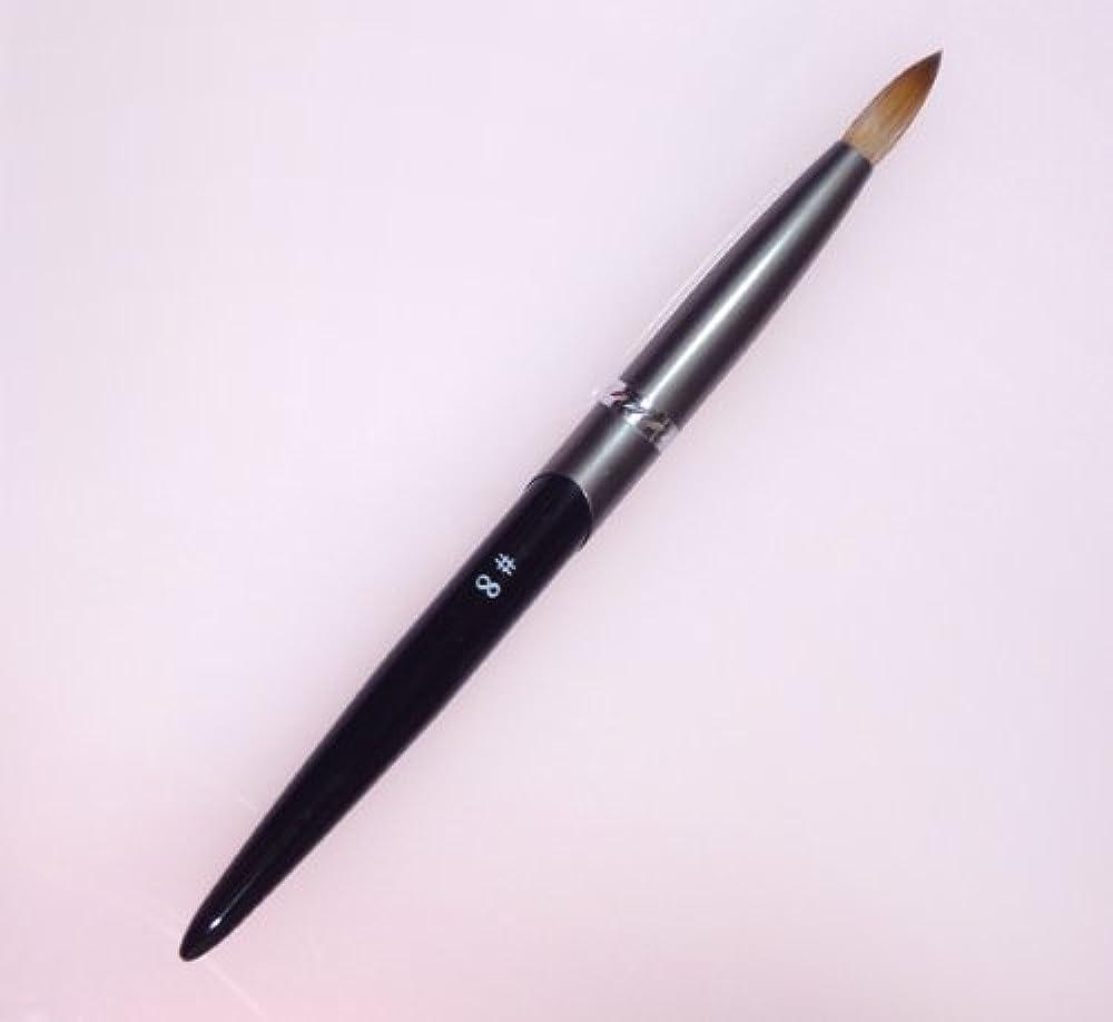 望み出血難破船密毛 高級アクリル用 コリンスキーブラシ ラウンド スカルプ筆 オール金属製の柄です