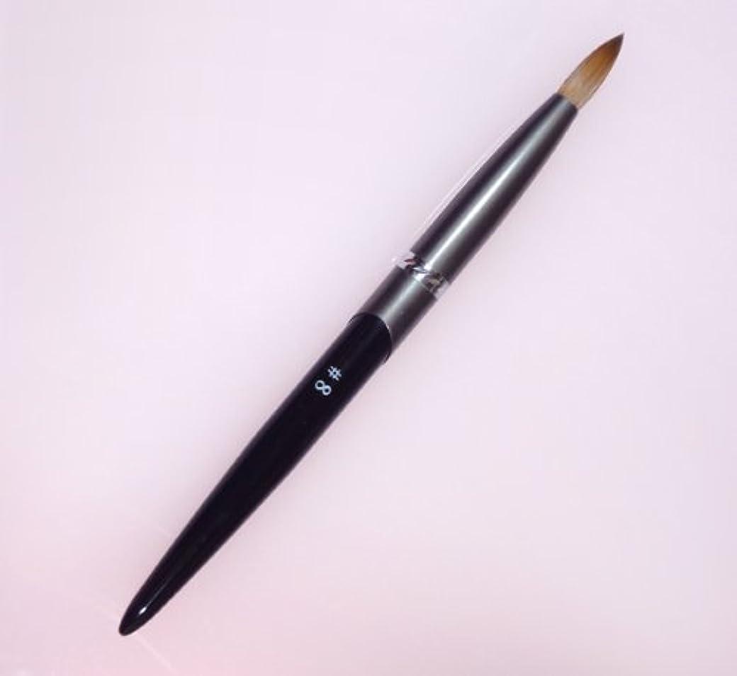 血まみれの自然公園お酒密毛 高級アクリル用 コリンスキーブラシ ラウンド スカルプ筆 オール金属製の柄です