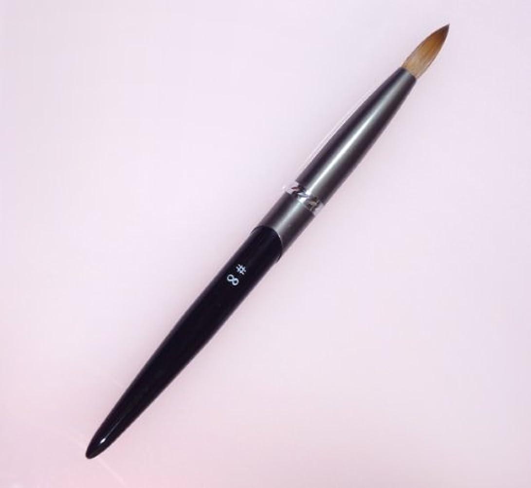密毛 高級アクリル用 コリンスキーブラシ ラウンド スカルプ筆 オール金属製の柄です