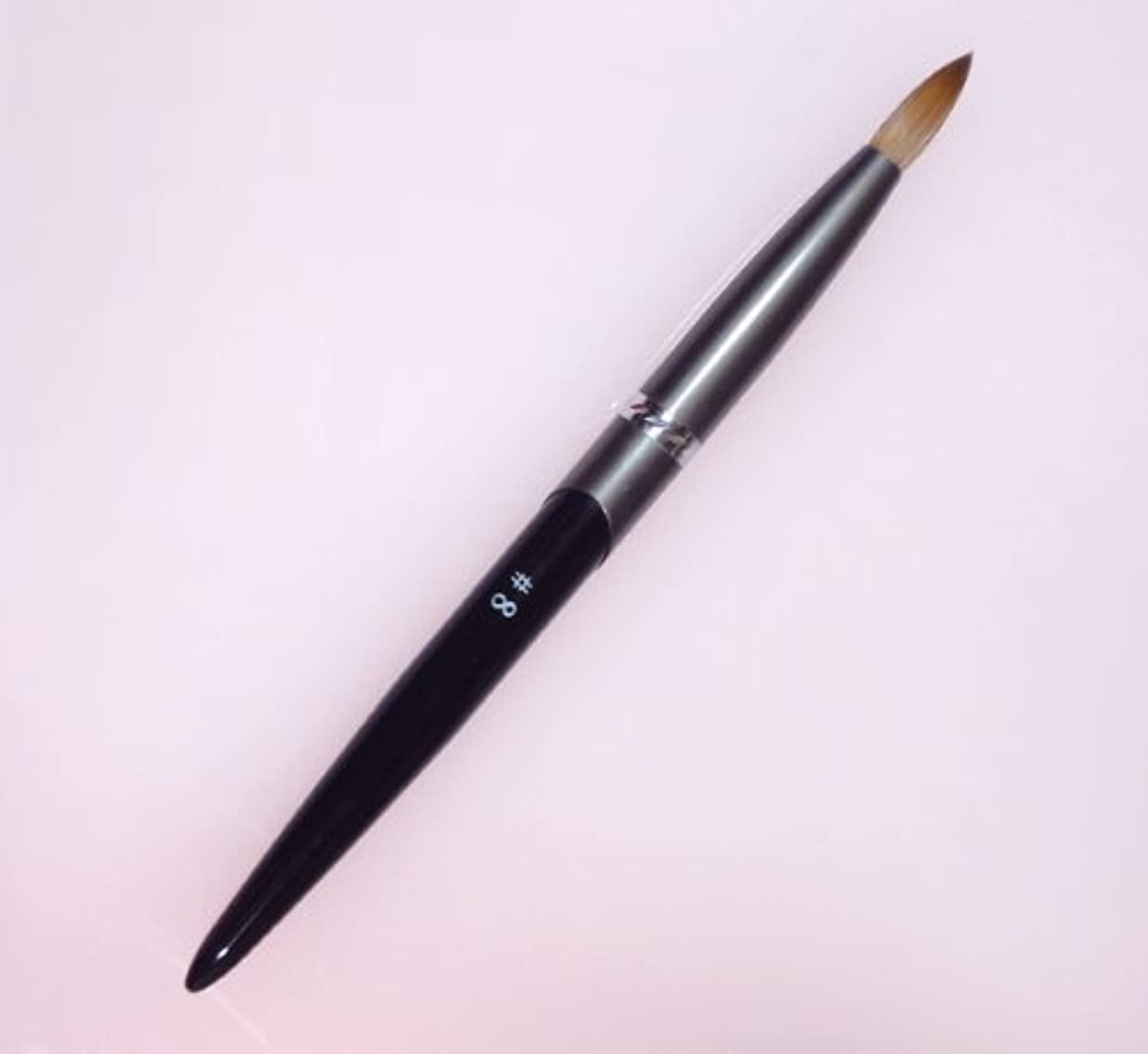 選挙通信するいつ密毛 高級アクリル用 コリンスキーブラシ ラウンド スカルプ筆 オール金属製の柄です