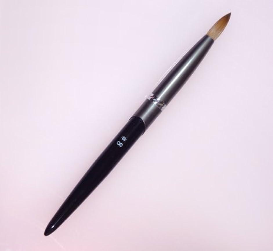 シリンダージャーナルはっきりしない密毛 高級アクリル用 コリンスキーブラシ ラウンド スカルプ筆 オール金属製の柄です