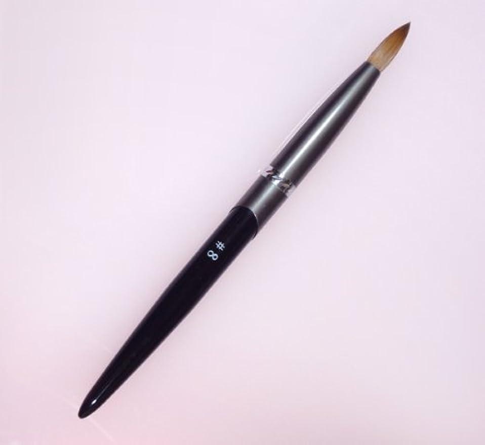 フレキシブルのりブロッサム密毛 高級アクリル用 コリンスキーブラシ ラウンド スカルプ筆 オール金属製の柄です
