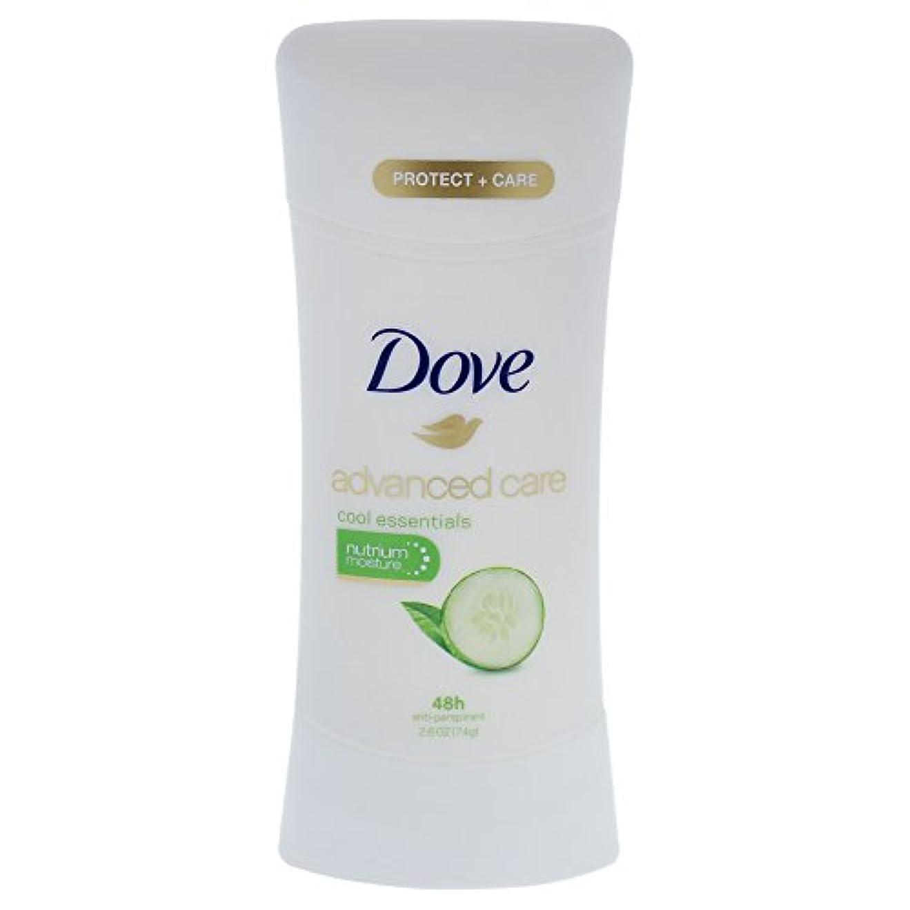 怠グリットの配列Dove Advanced Care Cool Essentials Deodorant - 2.6oz ダブ アドバンスド ケア クールエッセンシャル デオドラント 74g [並行輸入品]