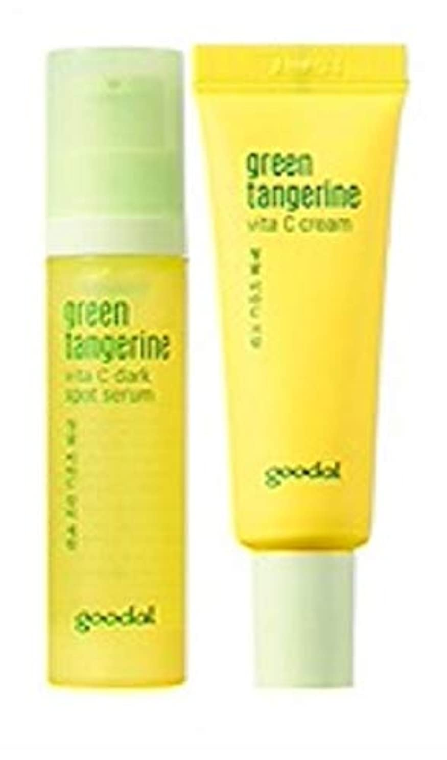 不適当幻滅通貨Goodal Green Tangerine Vita C Dark Spot Serum Set チョンギュル、ビタC汚れセラムセット ミニサイズ [並行輸入品]