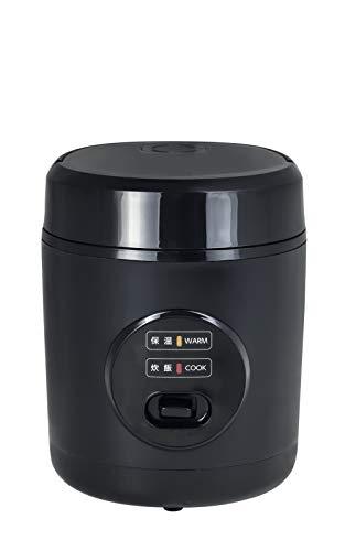 山善 炊飯器 0.5~1.5合 小型 ミニ ライスクッカー ブラック YJE-M150(B)