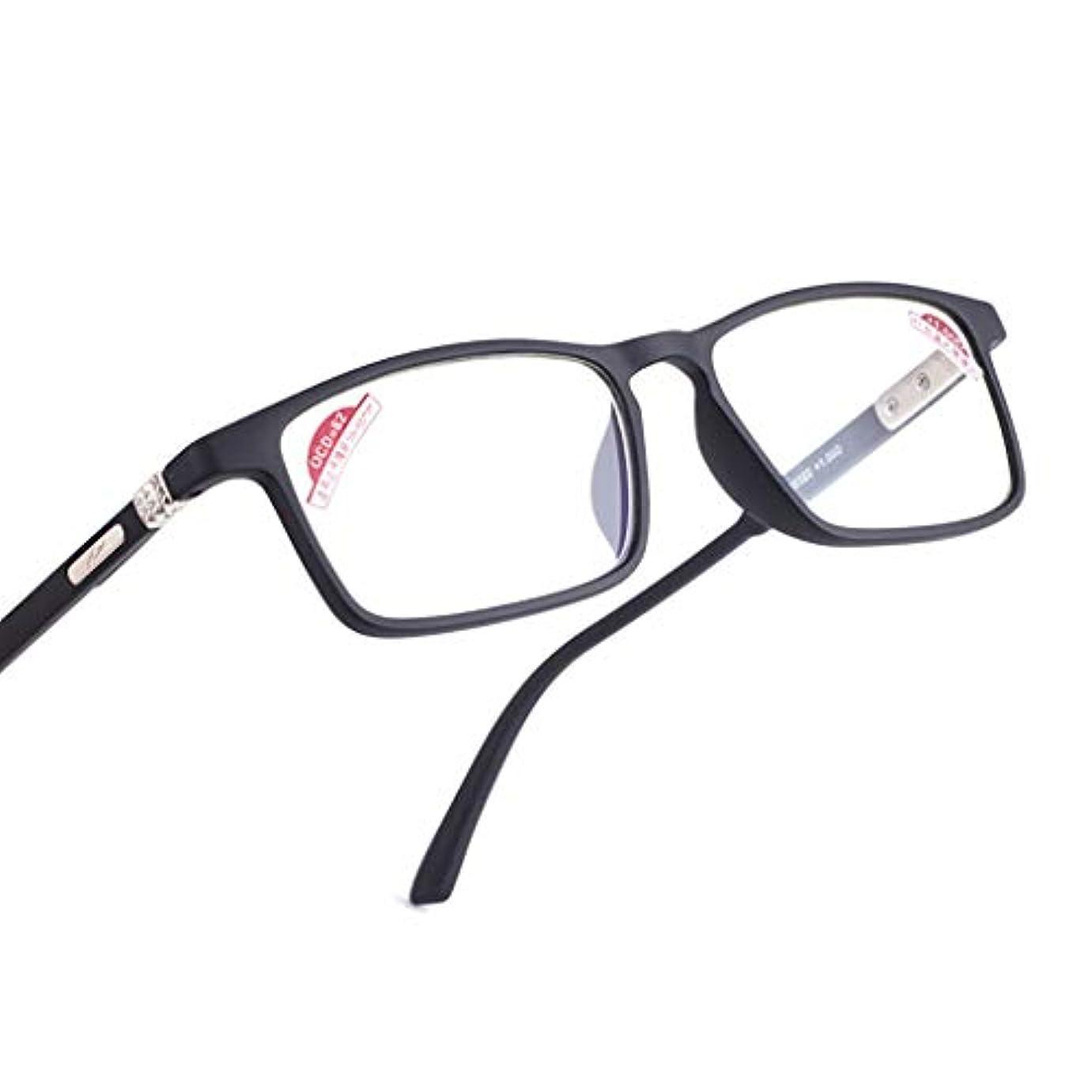 シリーズコークスポーチ超軽量ザ?老眼鏡会社ブラック読者大型フレームデザインスタイルメンズ、マットブラック(度+ 1?3.0)