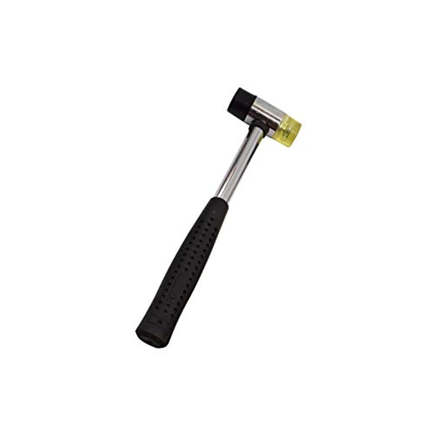 手荷物劣るカバーコンビハンマー レザークラフト 打ち具 ゴムハンマー 家庭用のツール 軽量両用 両面 多目的 軽量 レザーツール ゴム槌