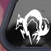 FOX フォックスハウンド [白 ホワイト] [ 10 x 9 cm ] Metal Gear Solid メタルギア FOXHOUND ゲーム DS PS Wii / 防水、耐久性抜群 アート ステッカー 高品質プレミアム / 車 バイク 壁 PC インテリア スーツケース ほとんど何にでも貼れる デカール シール ノートPC パソコン