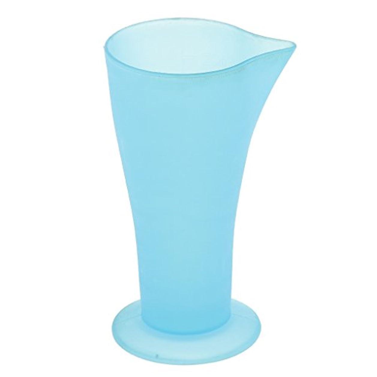 うなるカップ柔らかさSONONIA ヘアダイ容器 計量カップ 白髪染め ヘアカラー おしゃれ染め プラスチック 髪の色合い 色の混合用 再使用可能 ブルー