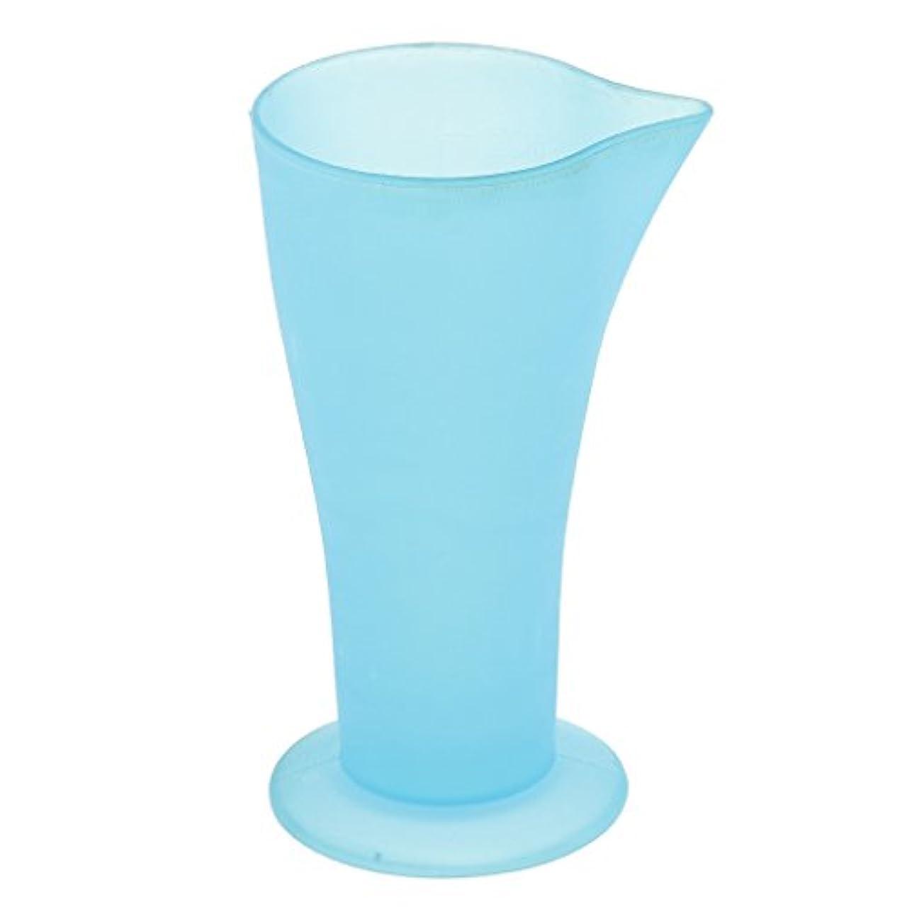 Kesoto 計量カップ ヘアダイカップ ヘアカラーカップ ヘアダイ容器 ブルー プラスチック 再使用可能 髪型 サロン 髪の色合い 色測定カップ
