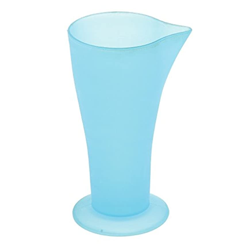 概念寝るホース計量カップ ヘアダイカップ ブルー プラスチック 再使用可能 髪型 サロン 髪の色合い 色の混合用
