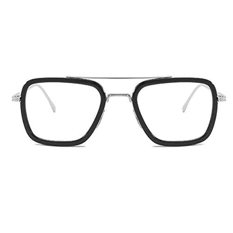 哲学者メカニックおもてなし同じサングラスの映画同じサングラスのヨーロッパとアメリカのファッションボックスメンズトレンドメガネ-シルバーフレーム
