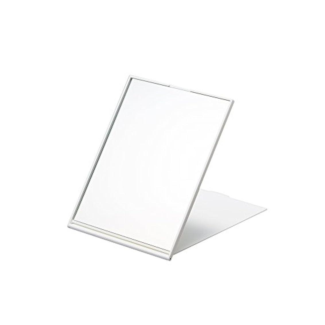間違い被るマウスピースナピュアミラー スリム&ライトコンパクトナピュアミラーL ホワイト AM-007WH