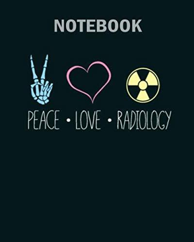 [画像:Notebook: peace love radiology sign1 - 50 sheets, 100 pages - 8 x 10 inches]