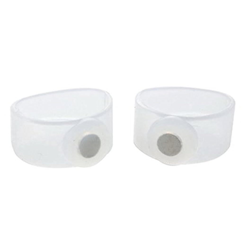 抵抗力がある少数塩辛いTumdem 2ピースSlim身シリコン磁気フットマッサージャーマッジリラックスつま先リング減量ヘルスケアツール美容製品