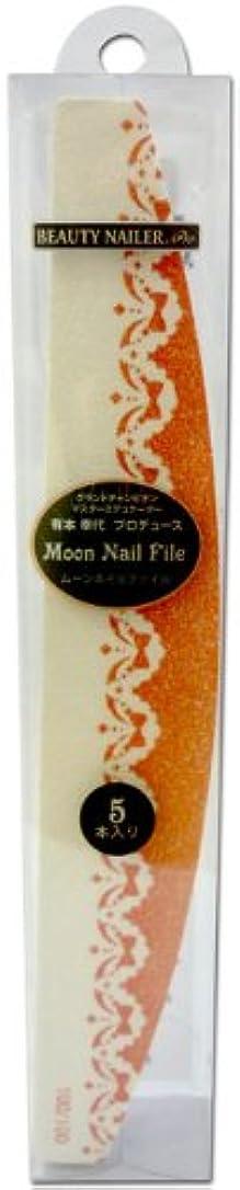 のぞき穴ダニ発生BEAUTY NAILER ムーンネイルファイル ANF-1 オレンジ