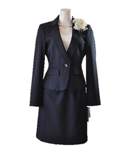 [해외]노 브랜드 제품 뒤에 리본 자켓 + 블라우스 지체 방지 테이프 플레어 스커트 433 (AU1F) 432 (BL2f3y   abet) 13 호 (치마 길이 52) 432 블랙/No brand item back ribbon jacket + blouse misalignment prevention tape flare skirt suit 433 (AU 1 ...