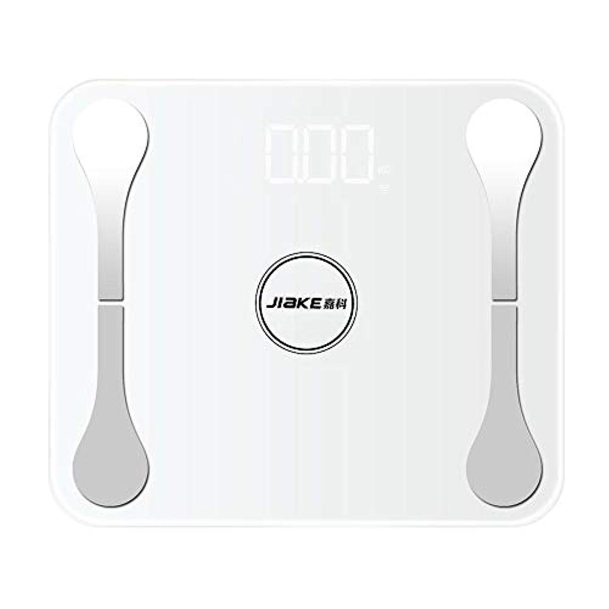 したがってパイロット媒染剤LCDデジタルUSBはAppleの白のための体重の脂肪質BMIブルートゥースAPPを量ります
