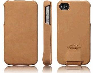 SPIGEN SGP アイフォン 4 / 4S ケース Vintage  BROWN FLAT  本革 フリップタイプ for iPhone 4 / 4S  SGP06754