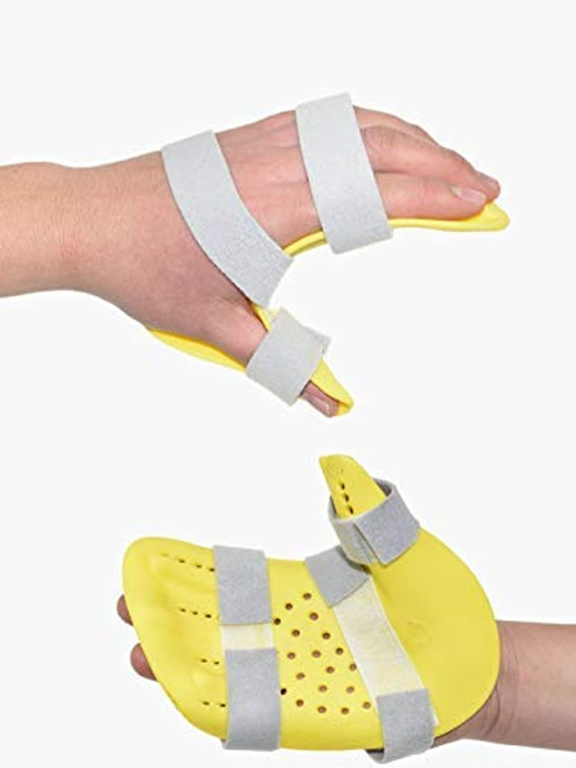 空中擁する地元研修会スプリント指、指装具、脳卒中片麻痺リハビリ機器医療の手の手首のトレーニング装具を指 (Left)