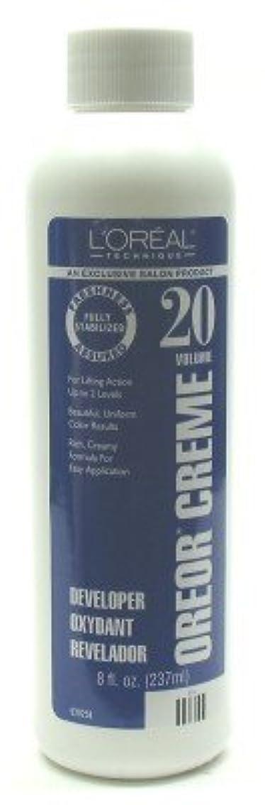 豊富にかすかな可能性L'Oreal Oreor Creme 20 Volume Developer 237 ml (Case of 6) (並行輸入品)