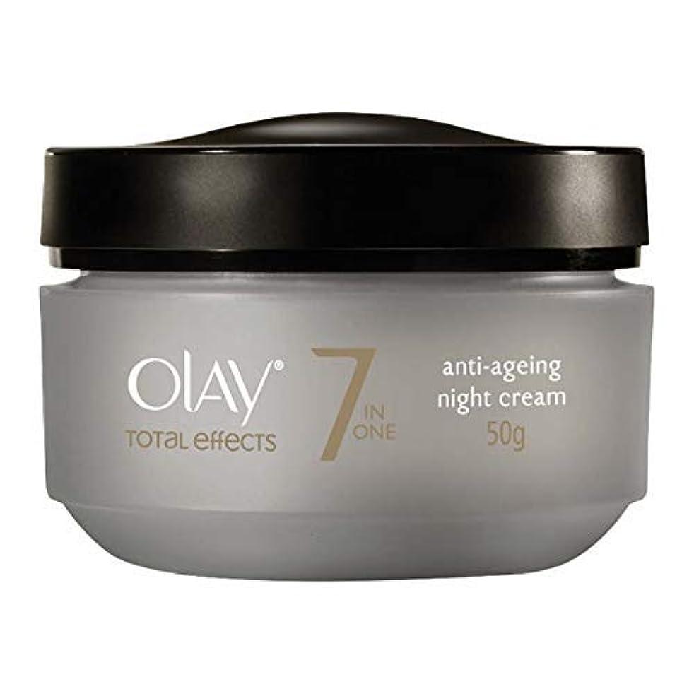 奇跡的な信者港オレイ Total Effects 7 In 1 Anti-Ageing Night Cream 50ml/1.7oz並行輸入品