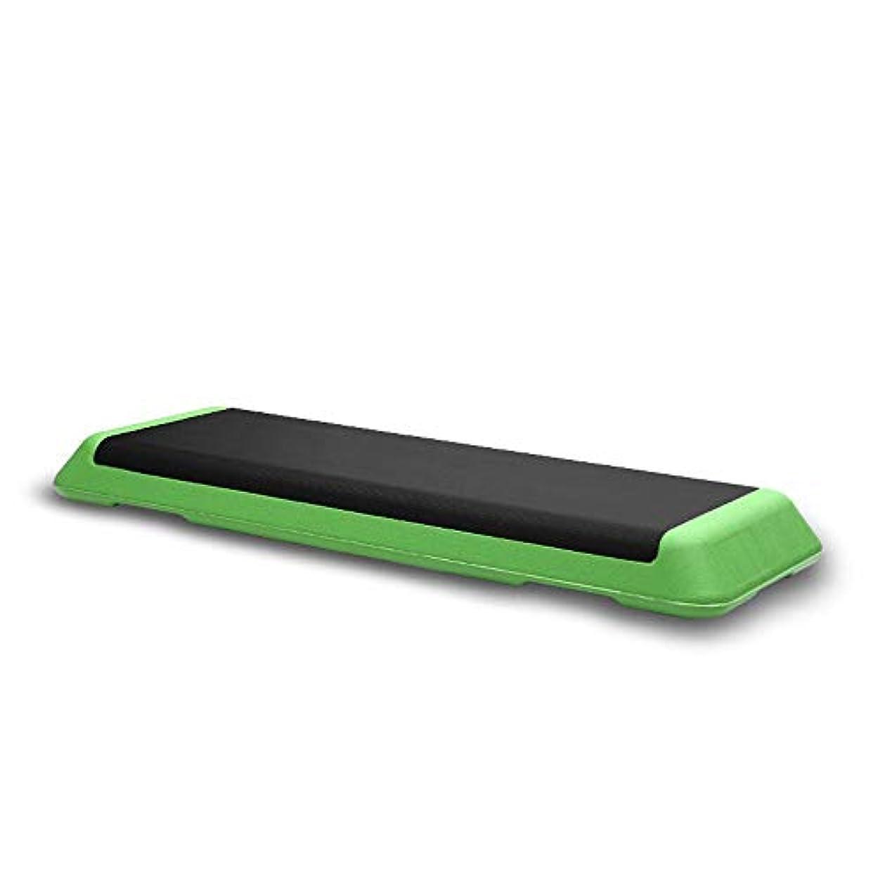 のれん温室感動する踏み台昇降運動 エアロビクスステップ カーディオフィットネスやエクササイズノンスリップ設計のためのステップ?プラットフォームの運動機器有酸素ステッパー 段階調節可能 静音 トレーリング (色 : 緑, Size : 110x41x10cm)