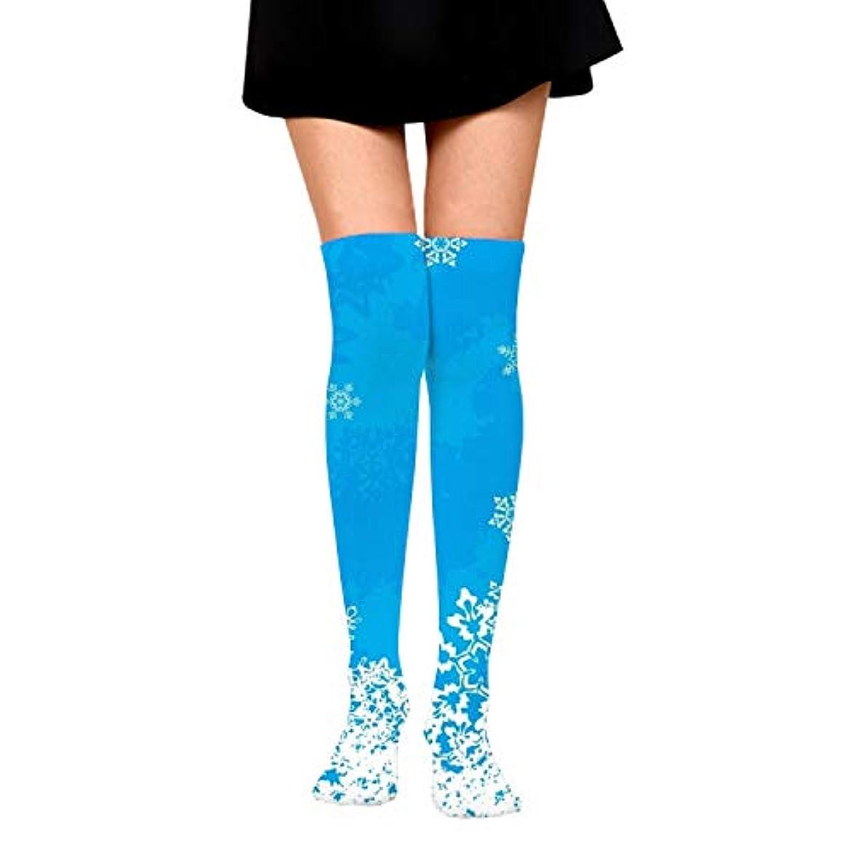 口述する記念碑的な喪冬の空雪満月の木鳥夕方ニーハイソックス モノトーンデザイン ガーリーテイスト 女の子オーバーニー