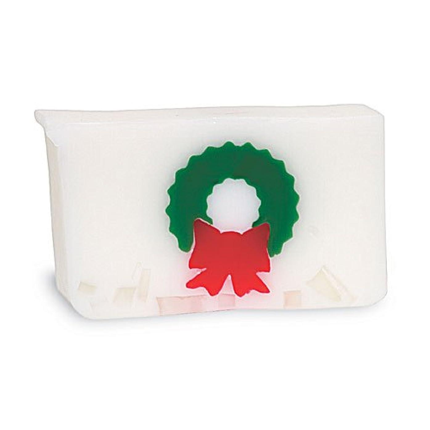 外出メタリック化粧プライモールエレメンツ アロマティック ソープ クリスマスリース 180g 植物性 ナチュラル 石鹸 無添加