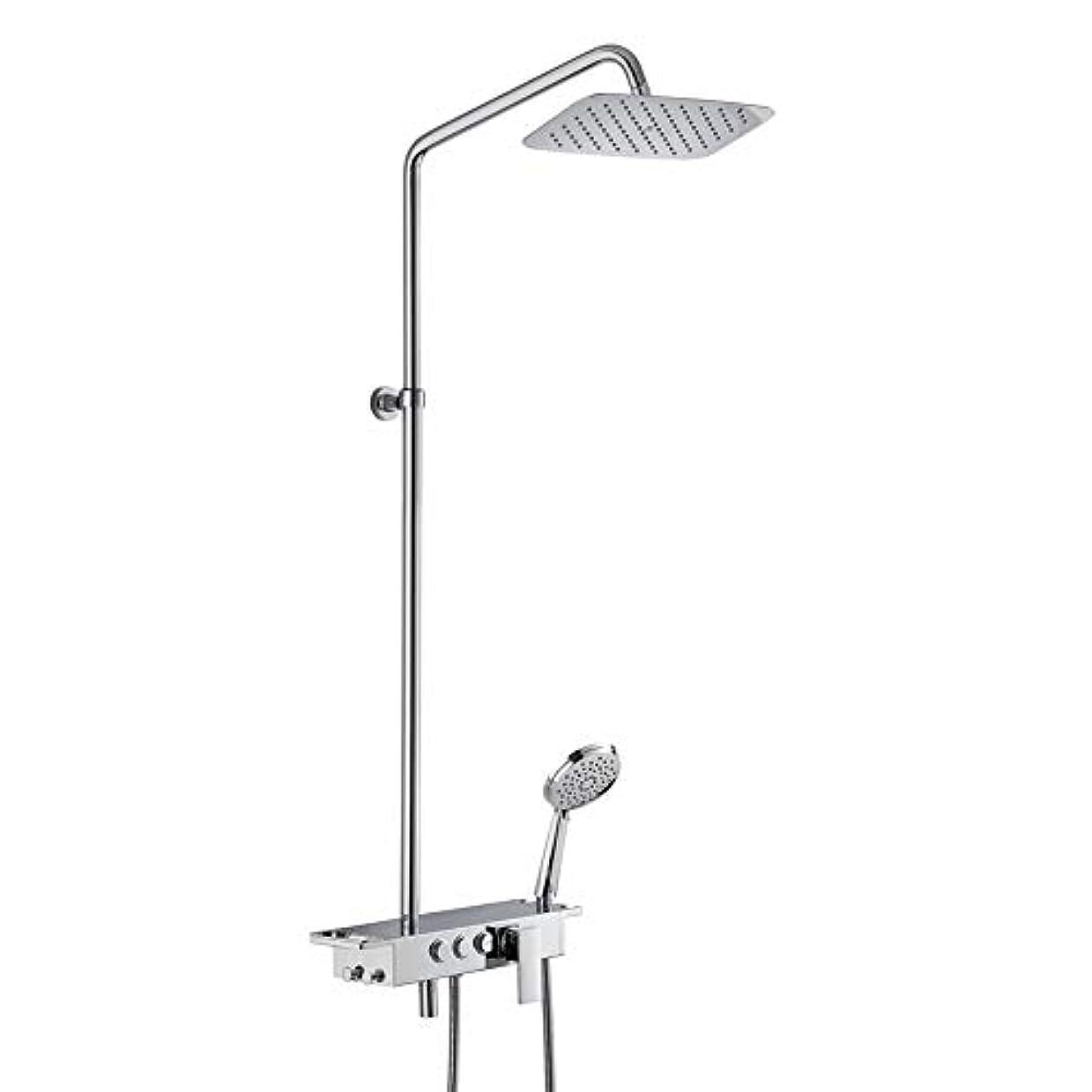 今晩飲料明確なシャワーシステム、レインフォールシャワーセット3機能レインフォールシャワーセットシャワーヘッドと手持ちショー全ての銅の壁に取り付けられた超薄型トップスプレーの温水シャワー