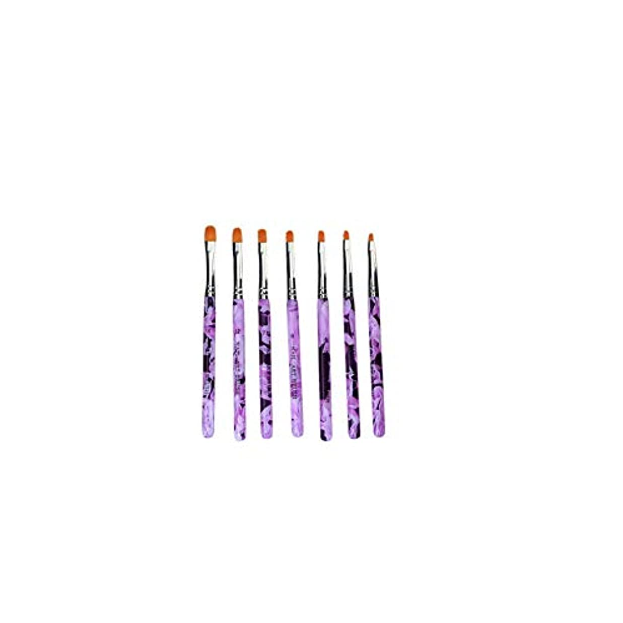 通知するライオンハムSnner オイル塗料のSetrushesを構築するために7XネイルグルーペンB7PCS UVアクリルネイルブラシネイルチップにアクリルネイルアートブラシビルドカラーUV接着剤、塗料のデザインのヒントを設定します