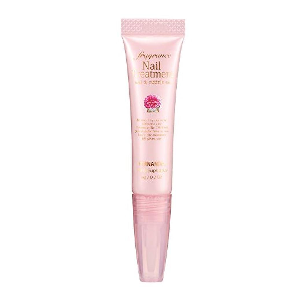 ロードブロッキングホールド透けて見えるFERNANDA(フェルナンダ) Fragrance Nail Treatment Pink Euphoria (ネイルトリートメント ピンクエウフォリア)