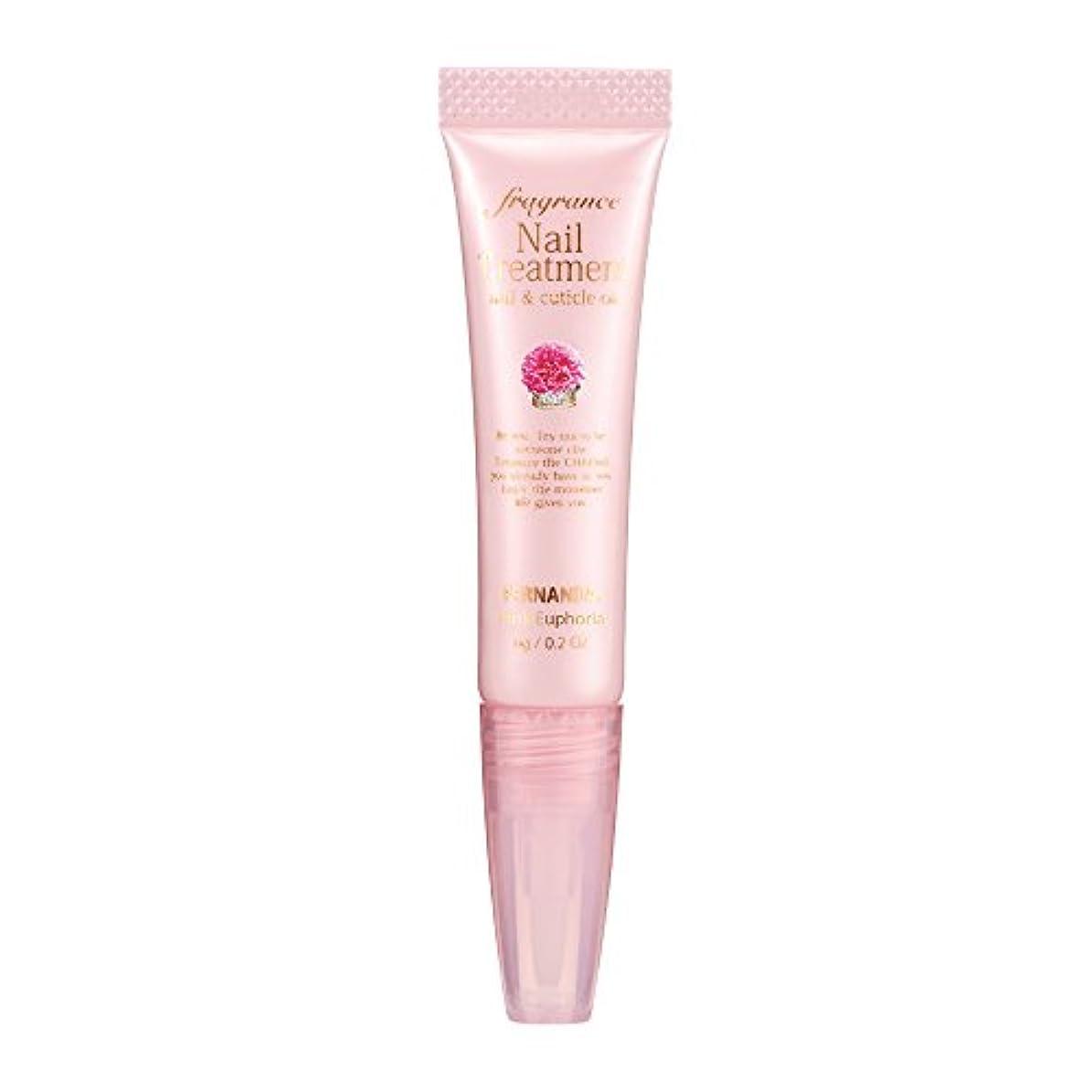 アスレチック一貫した引っ張るFERNANDA(フェルナンダ) Fragrance Nail Treatment Pink Euphoria (ネイルトリートメント ピンクエウフォリア)