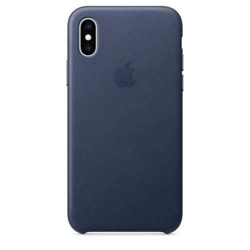 【国内正規品】Apple(アップル) 純正 iPhone XS 5.8インチ レザーケース ミッドナイトブルー