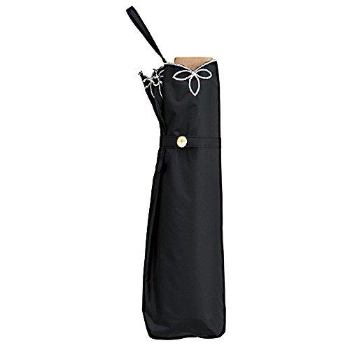 w.p.c 日傘 晴雨兼用 折りたたみ 遮光 バードケイジ ワイドスカラップ ブラック 55cm 801-656