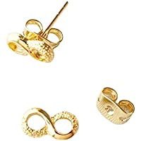 RatioAurea 2 Pairs Gold Filled Stud Earring Infinity Tiny Light Weight Hypoallergenic Durable Nickel Lead Free
