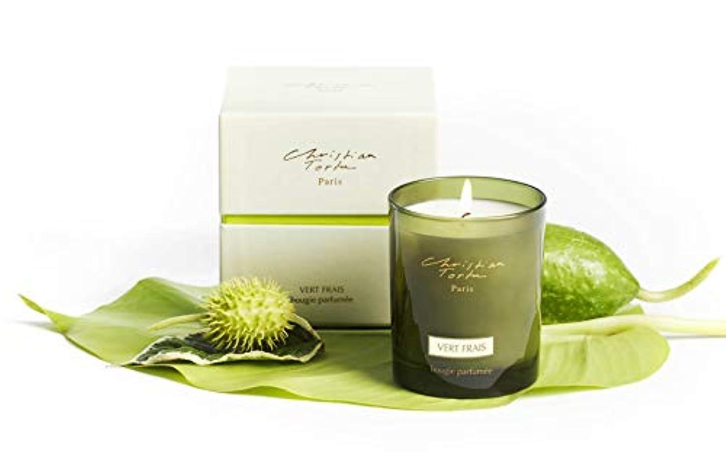 ハンドブック先にベルベットChristian Tortu Vert Frais (フレッシュグリーン) Candle