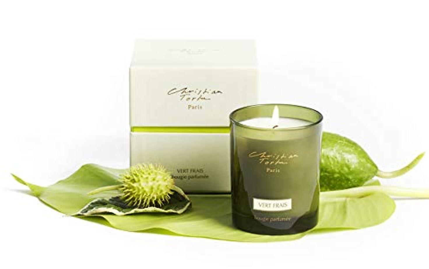 パンフレット頬骨疎外するChristian Tortu Vert Frais (フレッシュグリーン) Candle