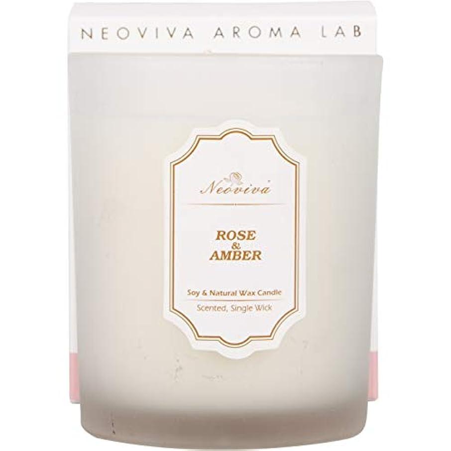 割る厄介な休眠NEOVIVAアロマキャンドル ソイキャンドル インテリア プレゼント  (ROSE&AMBER, WHITE)