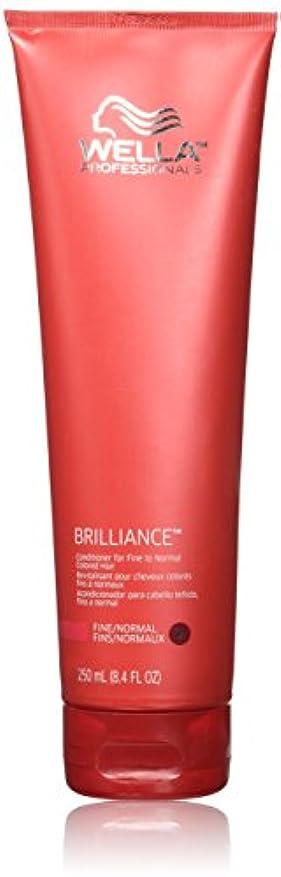 バーマド同行する必要とするWella Brilliance conditioner for Fine Hair, 8.4 oz by Wella