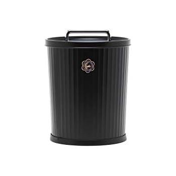 ツキウサギジルシ フタ付きゴミ箱 ブラック S テーパーバケット 479-07567
