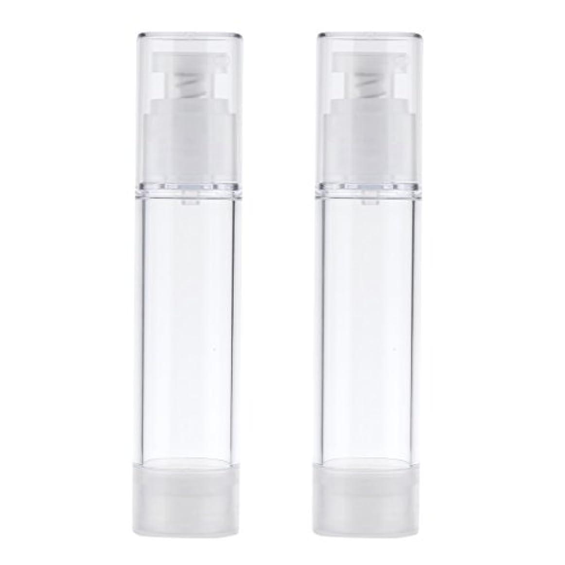キリン自由付き添い人2個 ポンプボトル エアレスボトル ポンプディスペンサー コスメ DIY 詰替え 香水ボトル 3サイズ選べる - 50ml